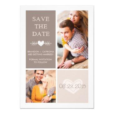 rustic heart doodles | save the date announcement