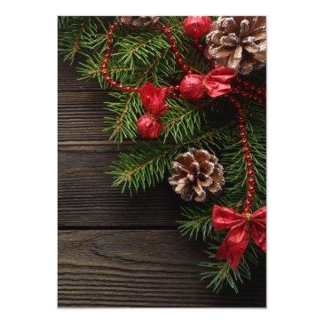 Small Rustic Holiday Pine Wreath Winter Wedding Back View
