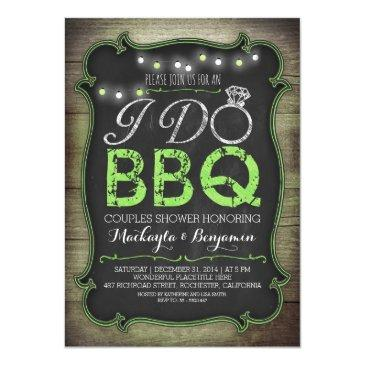 rustic i do bbq couples shower  - green