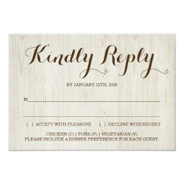 rustic invitation reply  insert