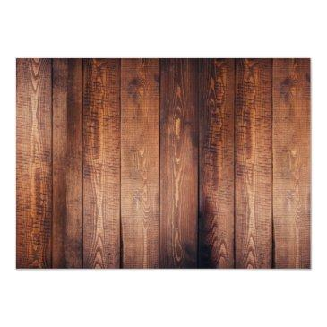 Small Rustic Leaves On Barn Wood Monogram Photo Wedding Invitations Back View