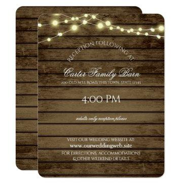 rustic lights and barn wood details wedding