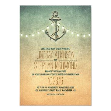 rustic lights nautical anchor wedding
