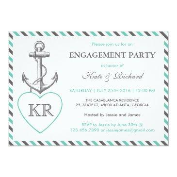 rustic monogram anchor engagement party