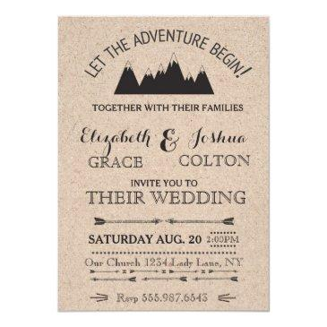 rustic mountains wedding