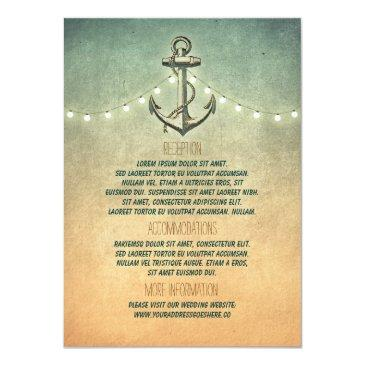 rustic nautical anchor and lights wedding details