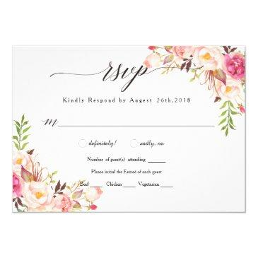 rustic peony floral wedding rsvp/with meal-02