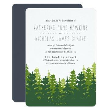 rustic pine forest wedding