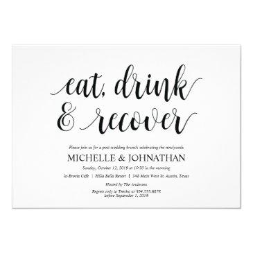 rustic post wedding brunch invitation