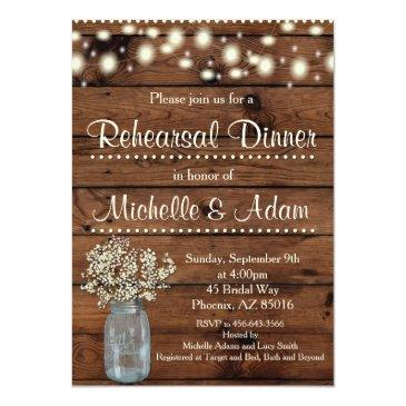 rustic rehearsal dinner invitations, rehearsal invitations
