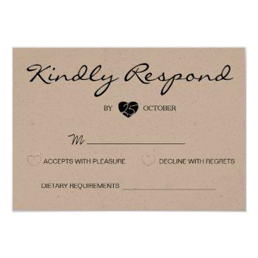 rustic romantic suite wedding rsvp