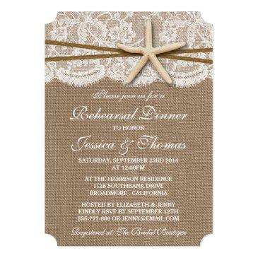Small Rustic Starfish Beach Wedding Rehearsal Dinner Front View