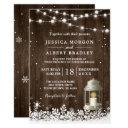 rustic string lights white lantern winter wedding