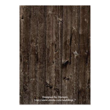 Small Rustic String Lights Wood Wedding Couples Shower Invitationss Back View