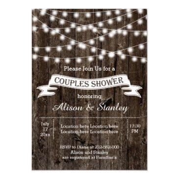 rustic string lights wood wedding couples shower