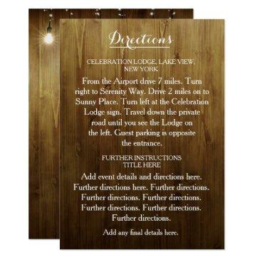 rustic string of lights wedding directions