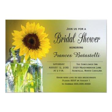 rustic sunflower mason jar bridal shower