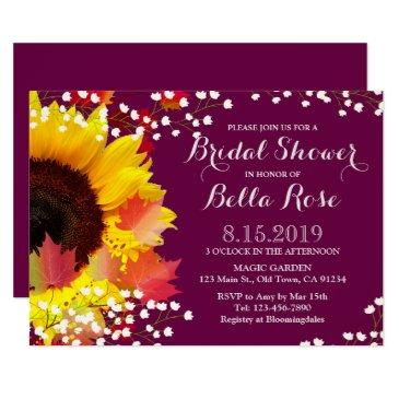 rustic sunflower plum bridal shower