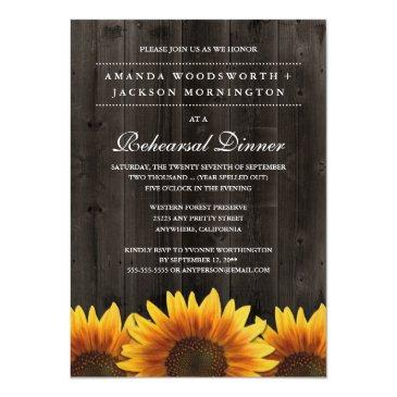 rustic sunflower rehearsal dinner