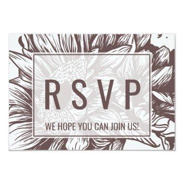 rustic sunflower song request rsvp invitations