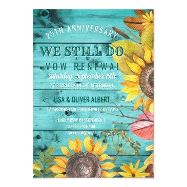 Small Rustic Sunflowers Backyard Vow Renewal Anniversary Front View