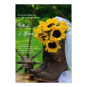 rustic sunflowers cowboy boots country
