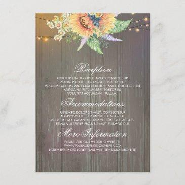 rustic sunflowers wedding information guest