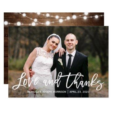 rustic sunflowers wedding photo thank you