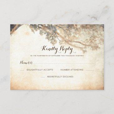 rustic tree branches outdoor wedding rsvp