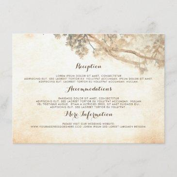 rustic tree branches wedding information guest enclosure