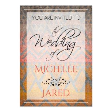 Small Rustic Tribal Sandstone Desert Pattern Invitationss Front View