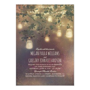 rustic vintage mason jar lights branches