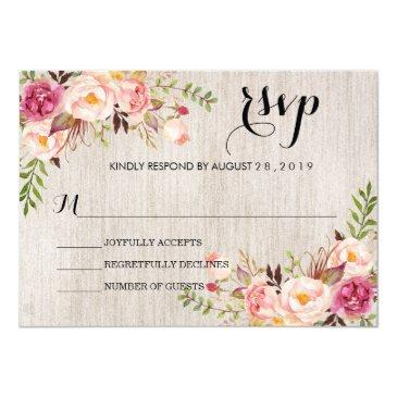 rustic watercolor floral wedding rsvp/no meal2