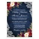 rustic wedding blue wood burgundy floral lace