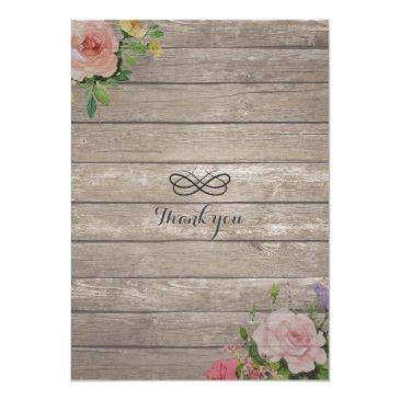 Small Rustic Wedding Invitations Floral Wood String Light Back View