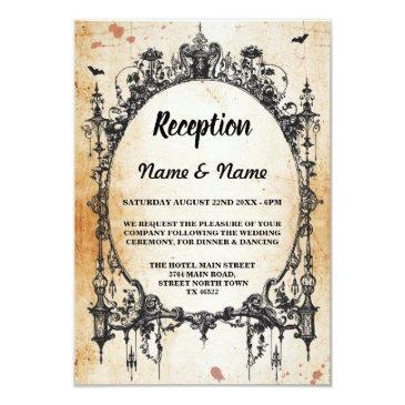 rustic wedding reception  gothic frame