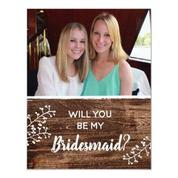 rustic | will you be my bridesmaid photo