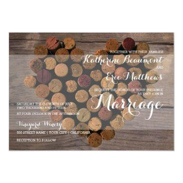Small Rustic Wine Cork Wedding Front View