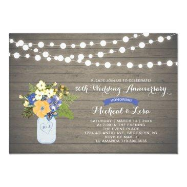 rustic wood 50th wedding anniversary