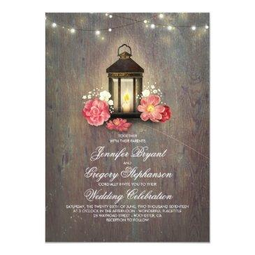 Small Rustic Wood And Floral Lantern Lights Fall Wedding Front View