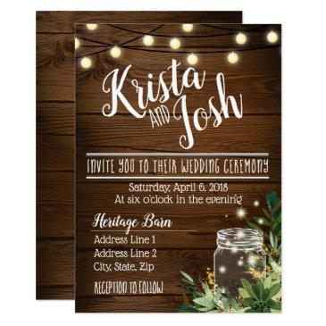 rustic wood and succulent wedding invitation