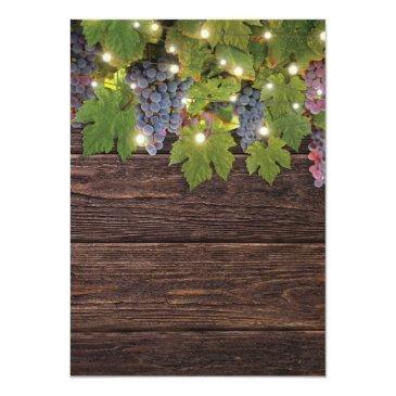 Small Rustic Wood Country Winery Lights Wedding Rsvp Invitationss Back View