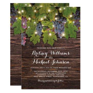 rustic wood country winery twinkle lights