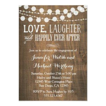 rustic wood engagement party