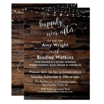 rustic wood light strings happily ever after