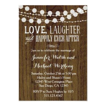 rustic wood marriage wedding party  2