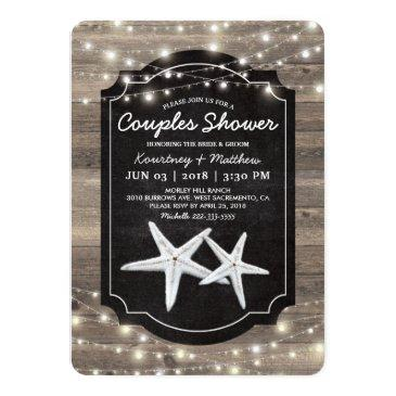 rustic wood starfish wedding couples shower