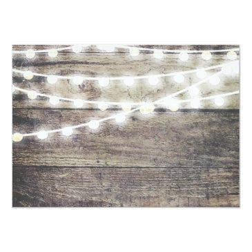 Small Rustic Wood String Light Will You Be My Bridesmaid Invitationss Back View