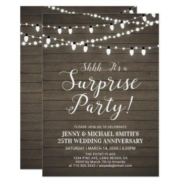 rustic wood surprise wedding anniversary party
