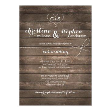 rustic wood tie the knot wedding